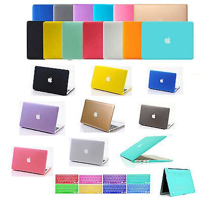 Rubberized Hard Case +Soft keyboard Cover For Macbook Pro / Air 11 12 13 15 inch