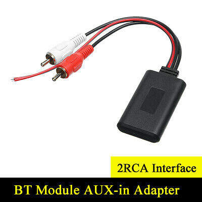 Car Bluetooth Receiver Module AUX-in Adapter For Vehicles with 2RCA Interface
