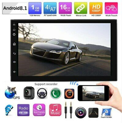 Android8.1 WiFi 2Din HD Quad Core GPS Navi Car Stereo MP5 Player no DVD FM Radio