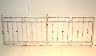 Vintage Cast Iron Fence Section