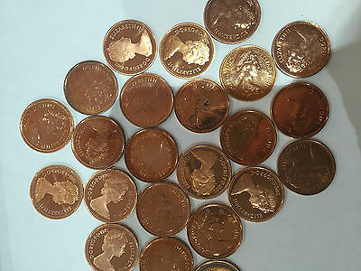 Uncirculated/Proof Half Pence Copper Coins  - Various Dates