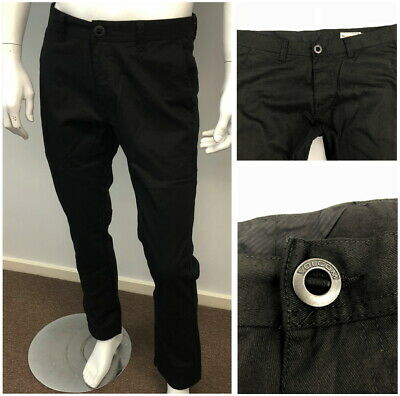 New Volcom Mens Straight Fit Pants Chino Smart Casual Trousers  -Black