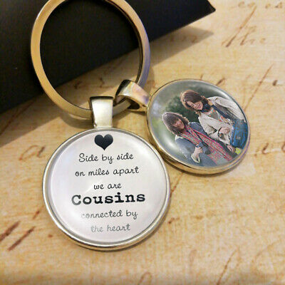 Personalized Photo Keyring Cousins Sisters Brothers Best Friends Presents Gifts