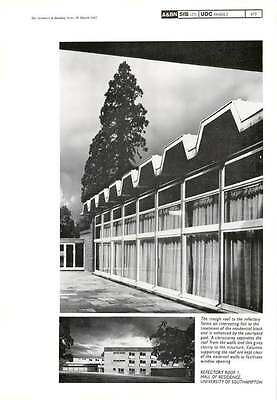 1962 Refectory Roof University Of Southampton Hall Of Residence 1