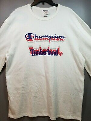 ca2a217d6063 *New* Men's Champion and Timberland Heritage Long Sleeve White T-Shirt Size  2XL