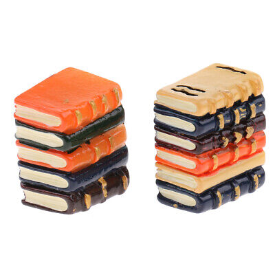 Resin Books Blocks for 1/12 Dollhouse Miniature Library Study Room Decor