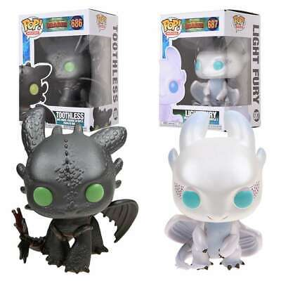 How To Train Your Dragon 3 Funko Pop! Toothless 686# Light Fury 687# Figure Toy