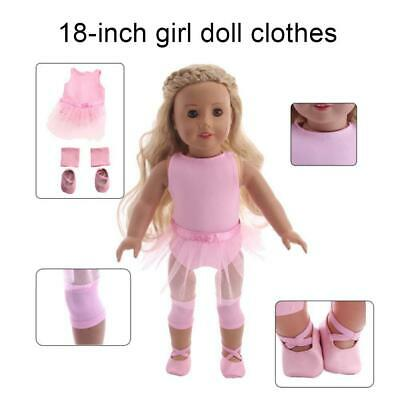Hot Handmade Pink Doll Clothes Ballet Dress Fit for 18 Inch  Girl Dolls