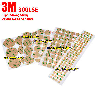 4 sheet 3M 300LSE Sticky Double Sided Clear Tape Pads Mounting Adhesive 10~50mm