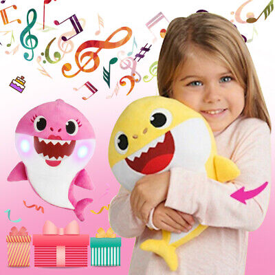 Birthday gift Baby Shark Plush LED  Plush Toys Music Doll Sing English Song Toy