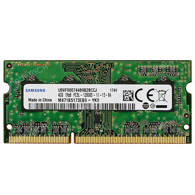 Samsung 4GB 8GB 1Rx8 PC3L-12800S DDR3 1600MHz SDRAM 1.35V 204 pin SO-DIMM Memory