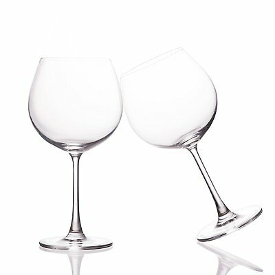 Gin Balloon Glasses 650ml Set 2 Crystal Gin Tonic Large Cocktail Glasses