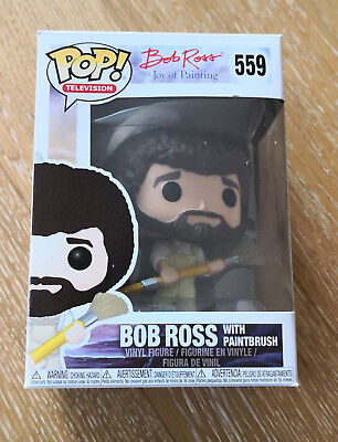 Funko POP 559 BOB ROSS with Paintbrush / Latzhose Farbeimer Pinsel / Television
