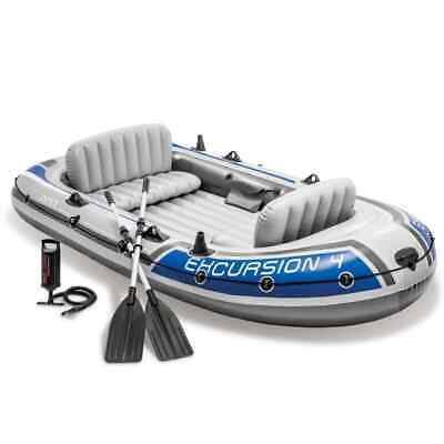 Intex Barca Schlauchboot Escursione 4 Set Incl. 4 + Pinna + Pompa