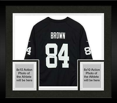 7decda668 Framed Antonio Brown Oakland Raiders Autographed Black Nike Game Jersey