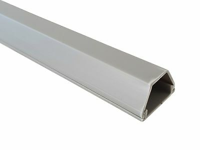 1m Cable Channel Grey 19x16mm Self Adhesive, Connector Available