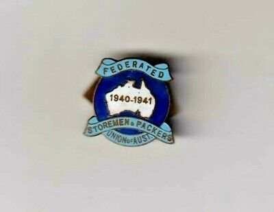 Federated Storemen's & Packers Union Of Australia Members Badge.1940-41