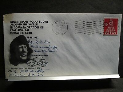 Rear Admiral RICHARD E. BYRD 1968 SIGNED TRANS-POLAR Flight Cachet