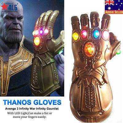 LED  Thanos Cosplay Gloves Infinity War Gauntlet Avenge 3