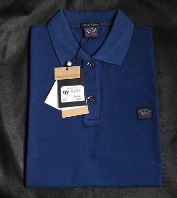 Paul And Shark Yachting Mens Polo Shirt Size XL (100% Organic Cotton)pit 22 inch