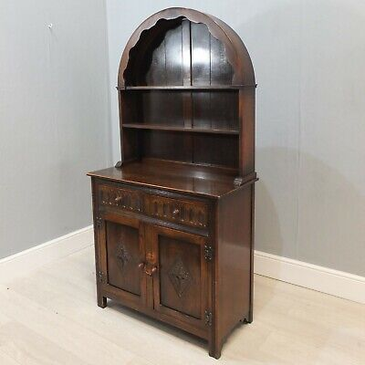 Dark Elm Old Charm Style Dome Top Dutch Dresser by Jaycee  (175)