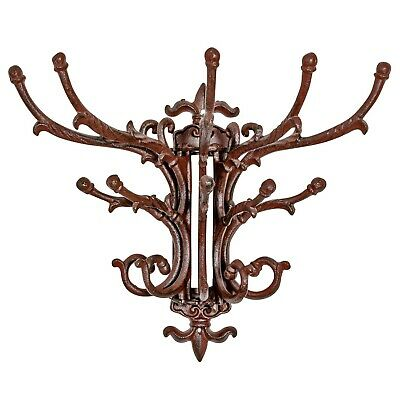 Coat hook clothes hook art nouveau wardrobe antique style brown