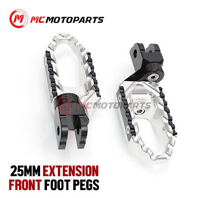 For MV Agusta 1078RR Brutale 08+ Silver Aluminum Riser Rider Footpegs Footrests