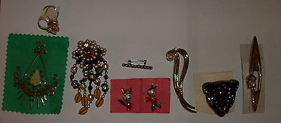 costume jewellery-brooches  - vintage - bulk - joblot - sale - bargain - lot 40