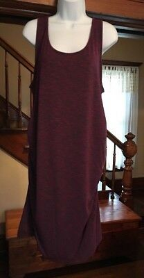 Liz Lange Maternity Cinched Sides Super-Cute Jersey Knit Tank Dress Berry Maroon
