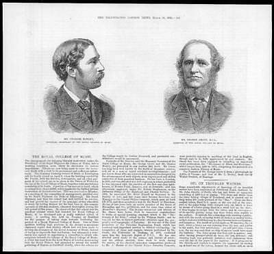 1882 Antique Print - PORTRAITS Charles Morley College Music George Grove (21)