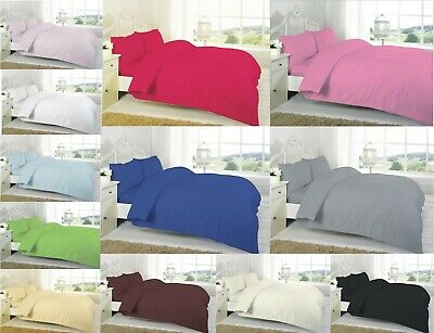 Luxury 100% Egyptian Cotton Full Flat Sheets 200TC Single Double King Super King