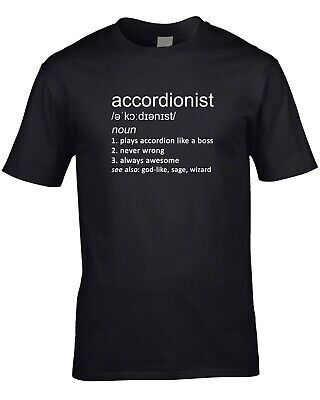 Accordionist Funny Definition Mens T-Shirt Gift Idea Accordion Music Instrument