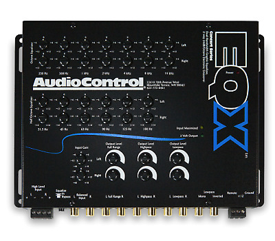 AudioControl EQX 13 Band Equalizer, Crossover and Line Driver