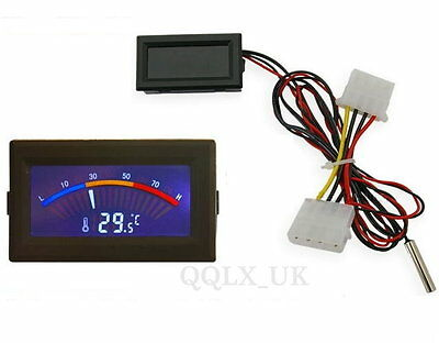 Digital Thermometer Temperature Meter Gauge C/F PC MOD - UK seller #0191