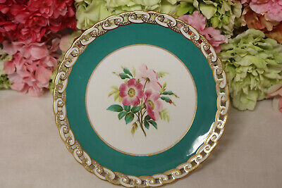Minton, English Porcelain Hand Painted Dessert Set with Flowers - Compote #2