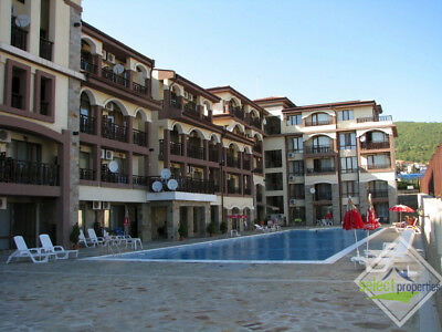 SEA VIEW STUDIO APARTMENT FOR SALE IN SAINT VLAS RESORT, BULGARIA! 5min BEACH