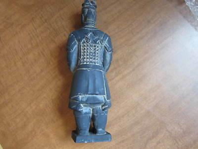 "Vintage Hand Made Chinese Terra Cotta New In Box """"General"""" 10 In Tall"