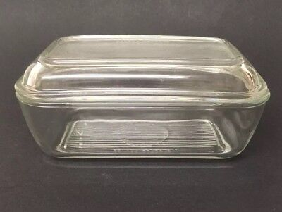 Vintage Arcoroc Ribbed Glass Butter Dish 🇫🇷