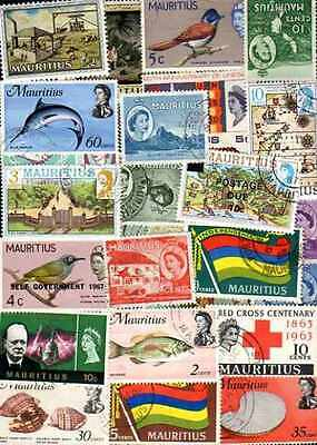 Maurice - Mauritius 300 timbres différents