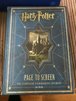 Harry Potter Page To Screen The Complete Filmmaking Journey Bob McCabe Hardback