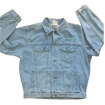 Vintage Lodge Casino At Black Hawk Wheel Of Fortune Denim Jacket, Size Medium