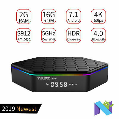 2019 2+16GB T95Z Plus Android 7.1 Amlogic S912 Octa Core TV BOX 4K Movoes Sports