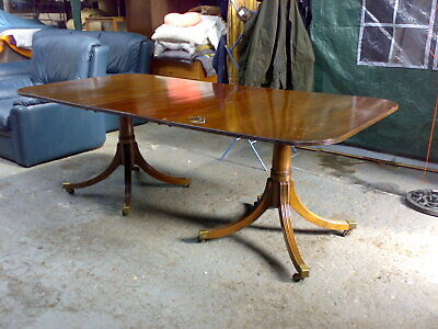 twin pillar antique reproduction dining table