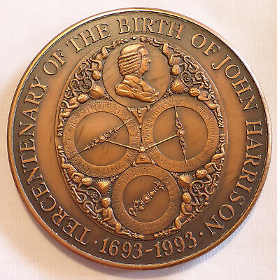 1993 Tercentenary John Harrison Bronze Medal 63mm Royal Mint