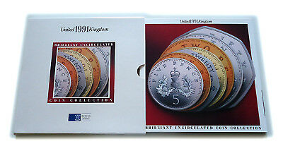 1991 UK Brilliant Uncirculated Coin Year Set Sealed Royal Mint