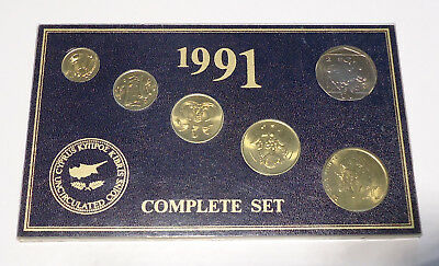 1991 Cyprus Uncirculated Coin Year Set