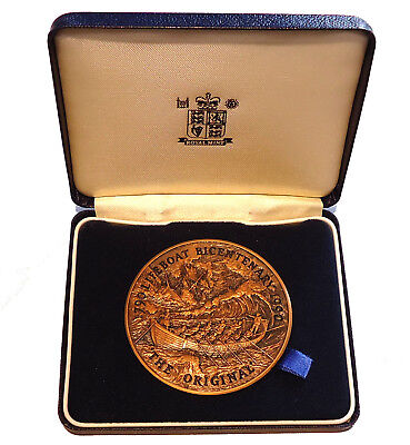 1990 Bronze Medal Bicentenary The Original Lifeboat 63mm Royal Mint Case + COA