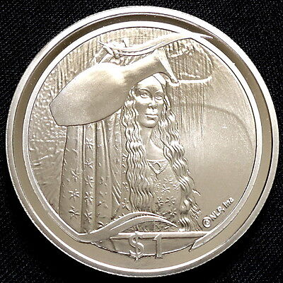 2003 New Zealand Silver Proof $1 Lord of the Rings Mirror of Galadriel