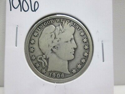 1906 Us Barber Silver Half Dollar