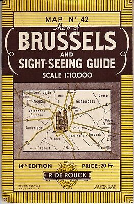 Brussels - Sightseeing Guide - Circa 1960s - Old and Used